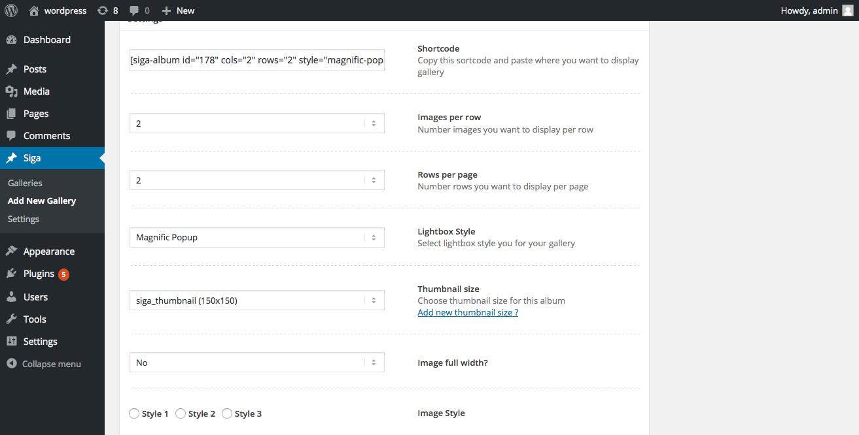 Siga – Simple Gallery for WordPress - Ninja Team
