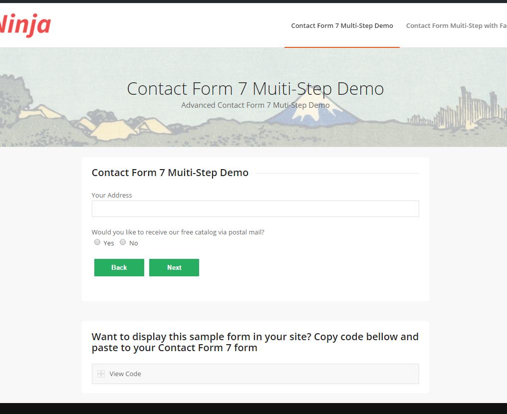 Contact Form 7 Multi Step Ninja Team