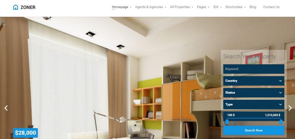 zoner-real-estate-wordpress-theme