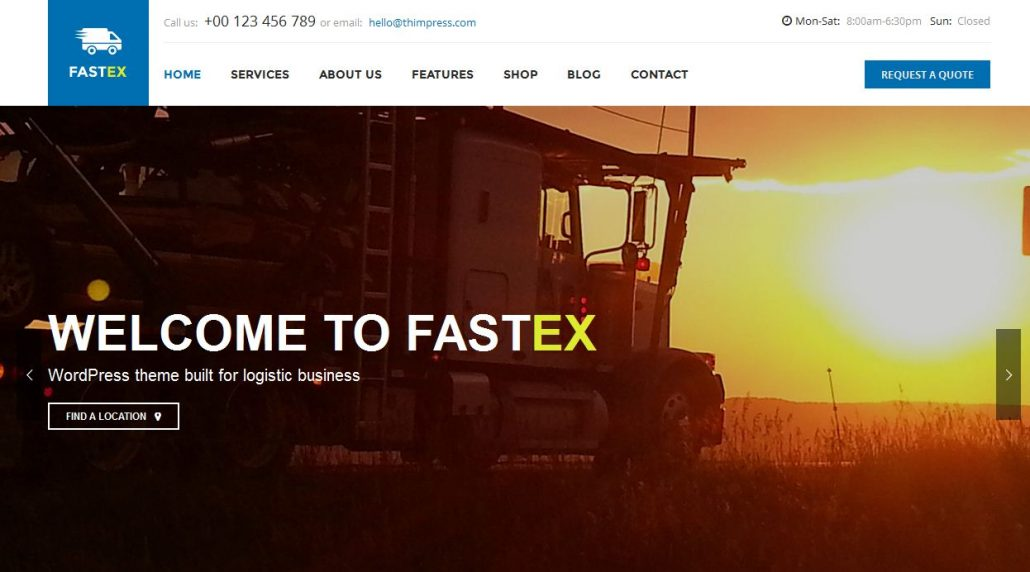 fastex-logistics-wordpress-theme