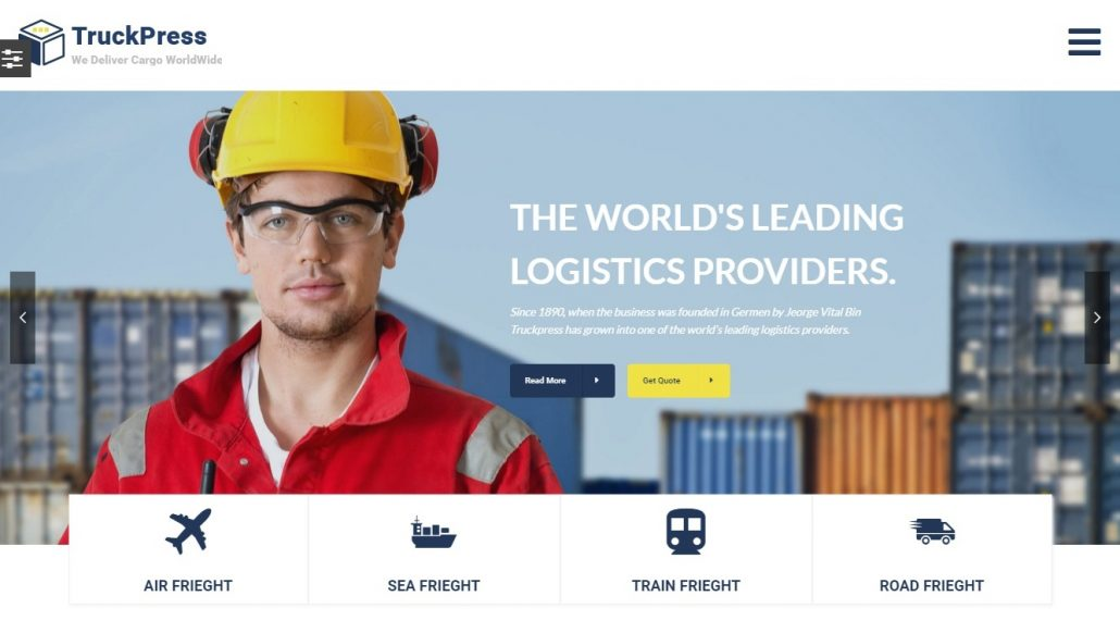 truckpress-logistics-wordpress-theme