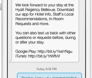 Hyatt-messaging-app