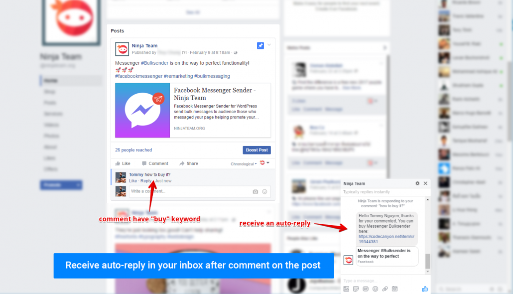 Facebook Messenger Auto-Reply - Ninja Team