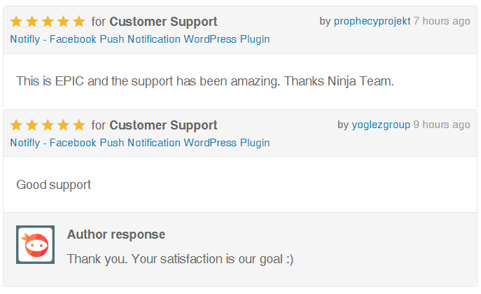 Notifly Reviews on Ninja Team Support
