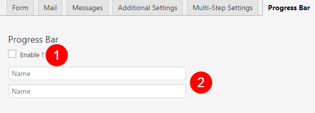 Add Progress Bar and Multi Step for Contact Form 7