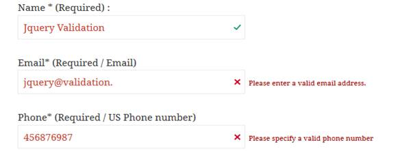 JQuery Validation For Contact Form 7