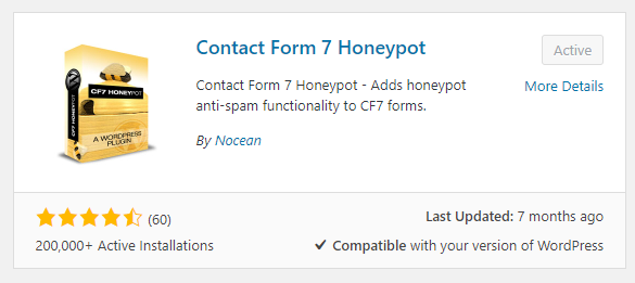 contact form 7 honeypot