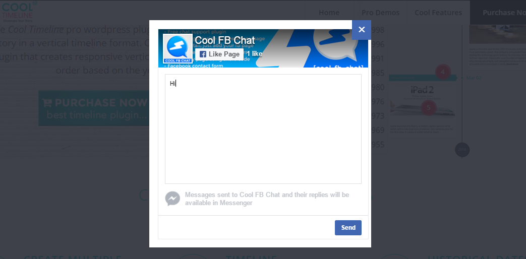 cool facebook messenger plugin
