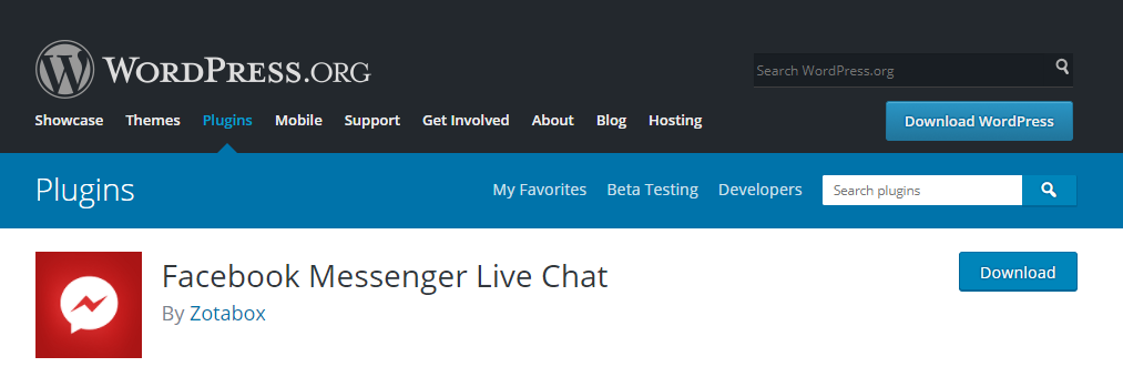 facebook messenger live chat
