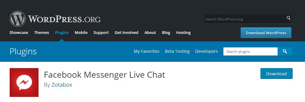 facebook messenger live chat