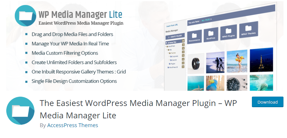 wp media manager lite