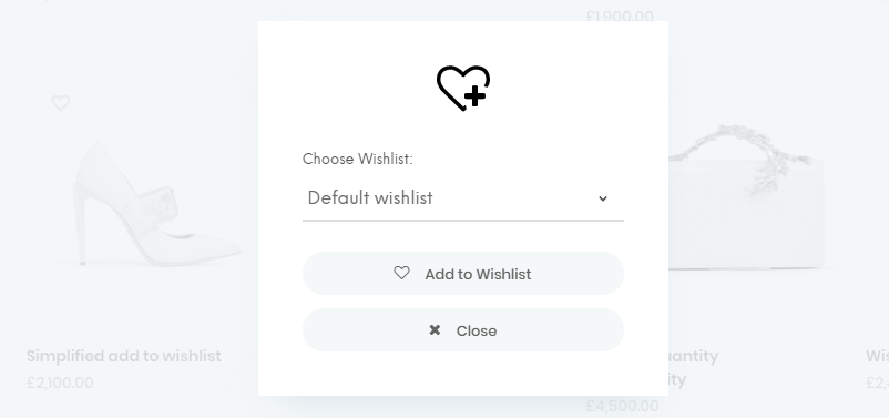 WooCommerce Wishlist sample