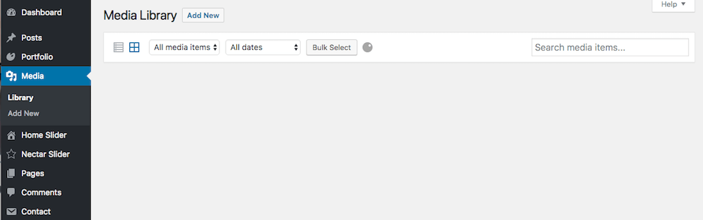 wordpress media library not loading not showing