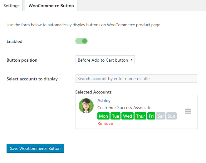 WhatsApp WooCommerce button