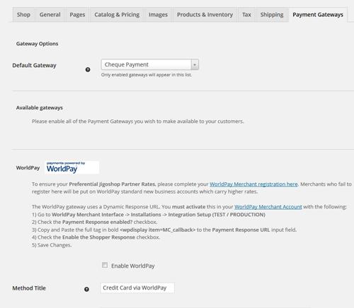 jigoshop payment method