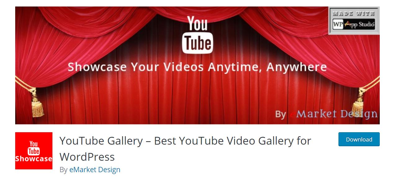 YouTube Showcase – Video Gallery Free WordPress Plugin