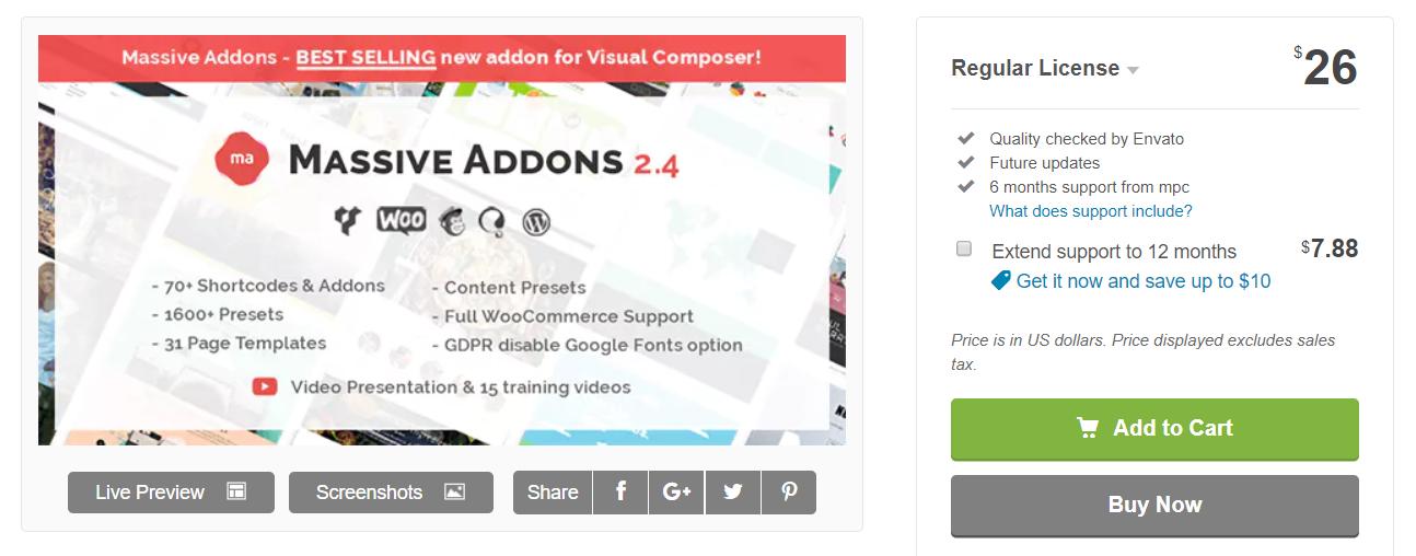 massive addon page builder