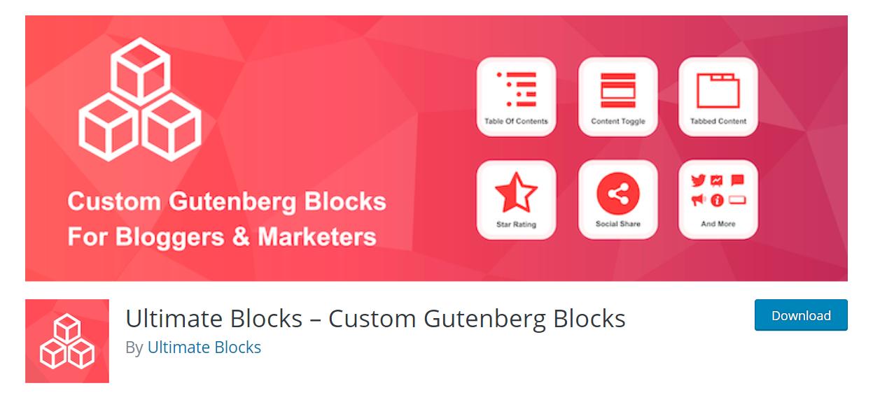 Ultimate Blocks wordpress plugin