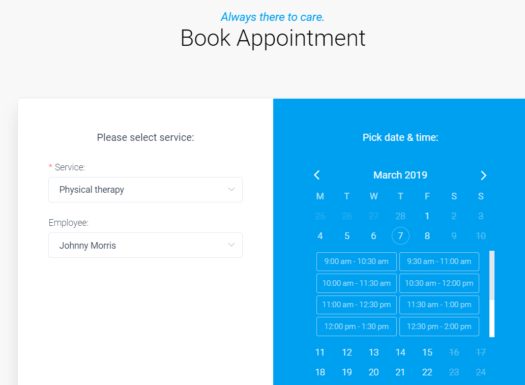 amelia booking plugin