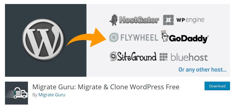 migrate guru wordpress plugin