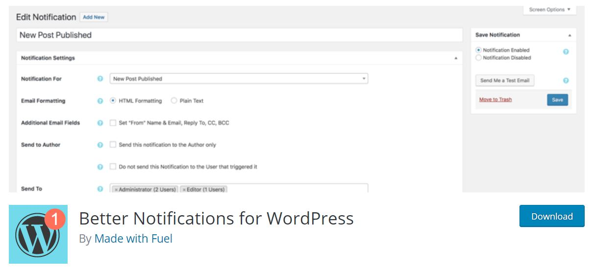 better noti for wordpress