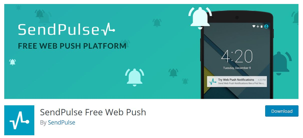 sendpulse free web push