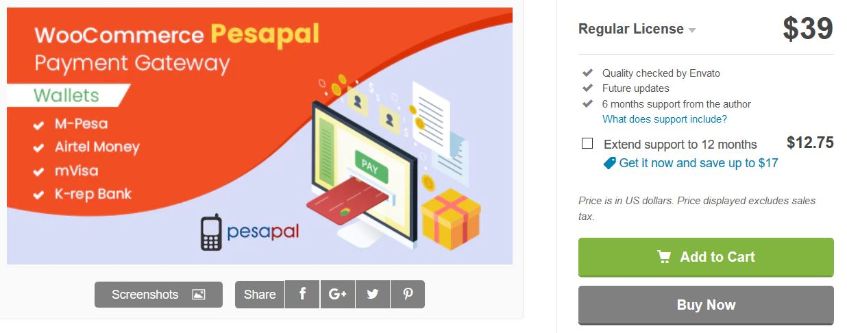 woocommerce pesapal payment