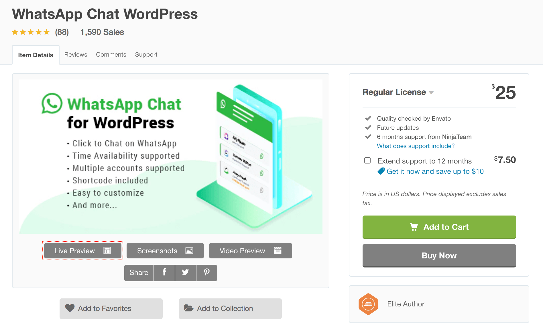 best whatsapp chat wordpress