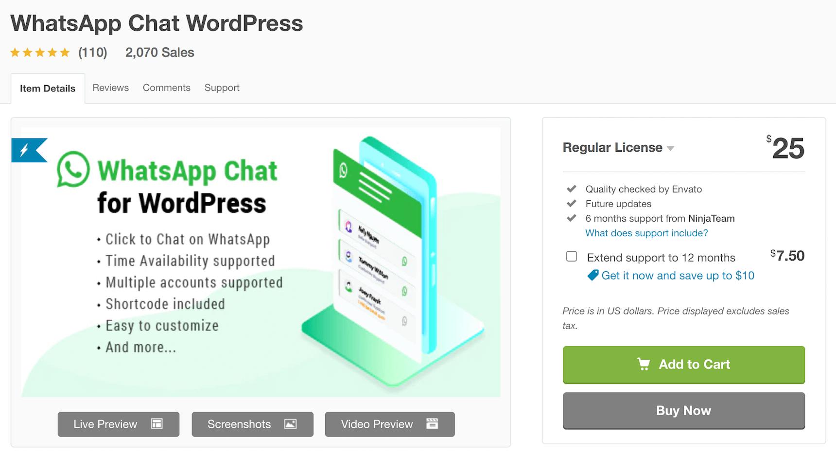 WhatsApp for WordPress