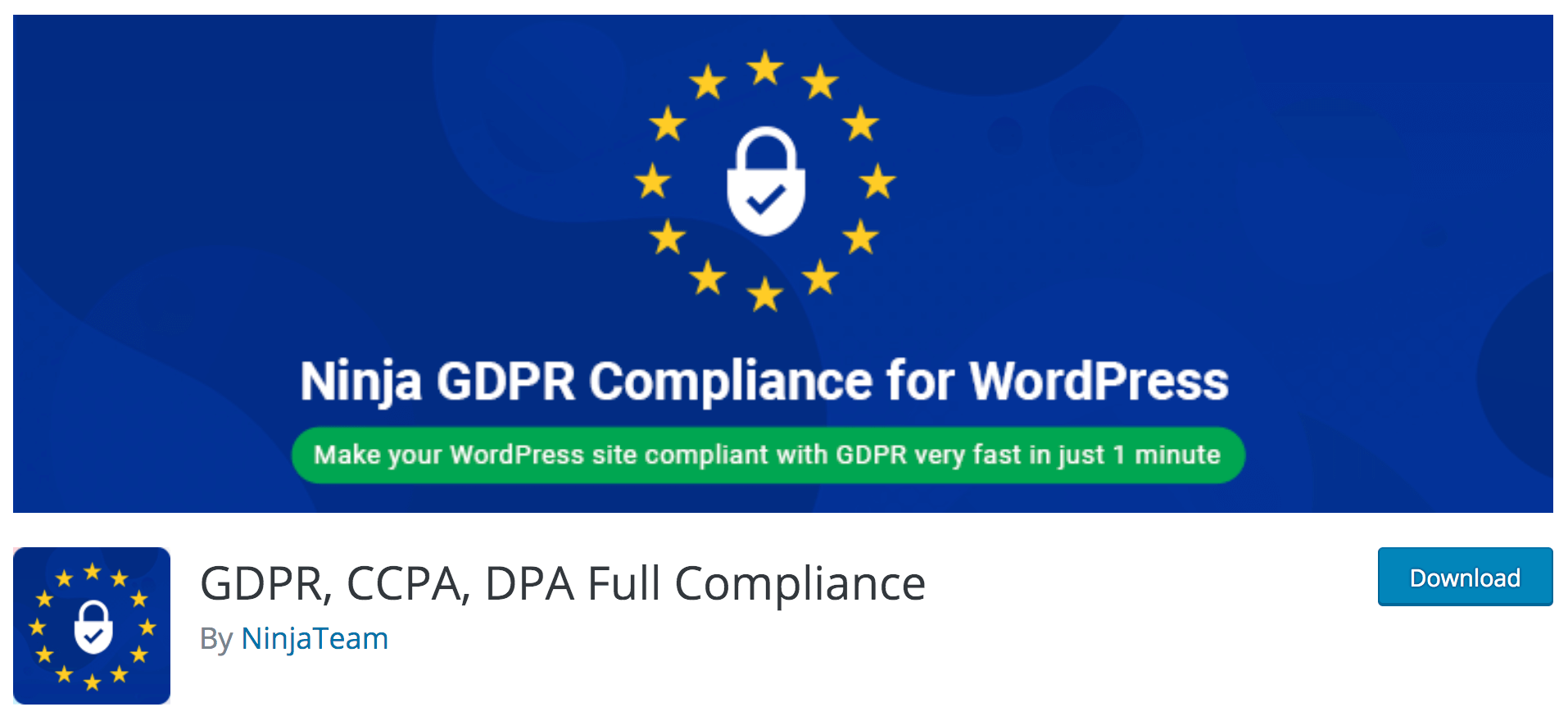 GDPR plugin ninjateam wordpress
