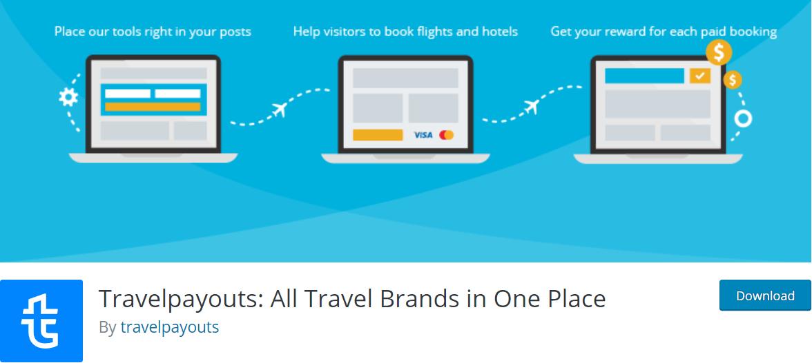 Travelpayouts plugin screen