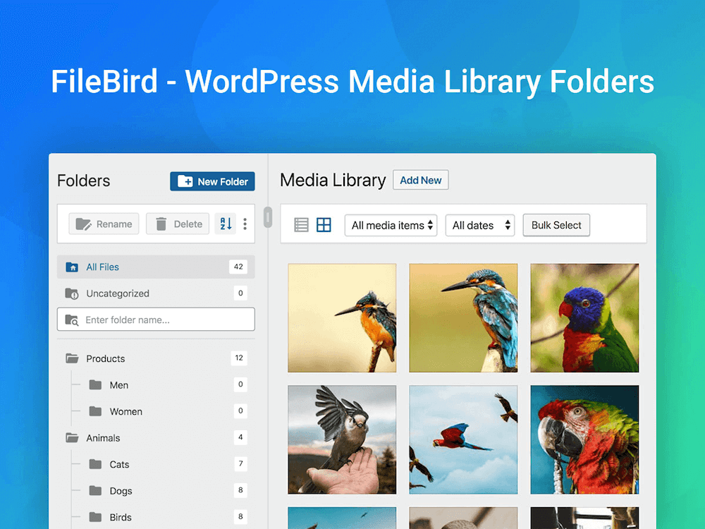 FileBird – WordPress Media Library Folders & File Manager