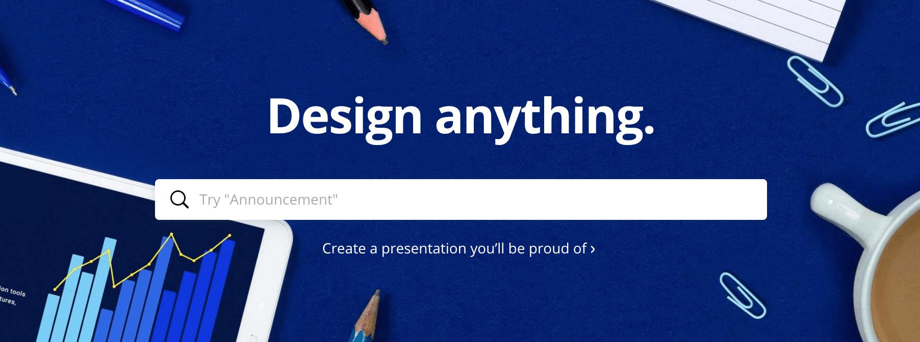 Canva - design tool for marketing