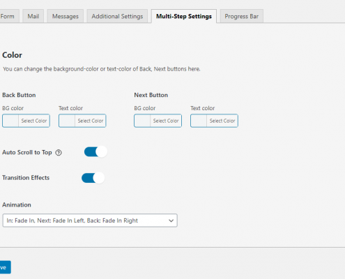 Contact form 7 Multi-step General Settings