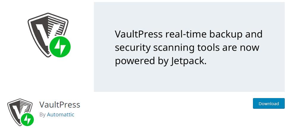 VaultPress is a WordPress security plugin by Automattic