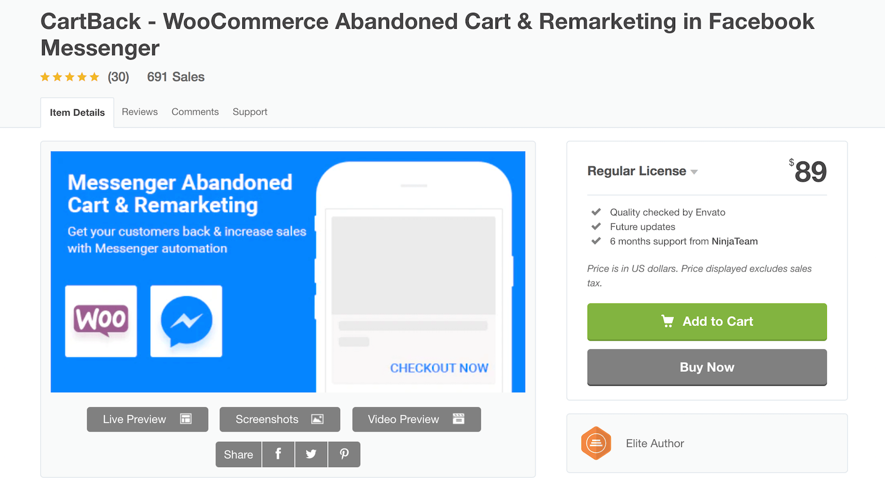 CartBack Abandoned Cart plugin for WooCommerce