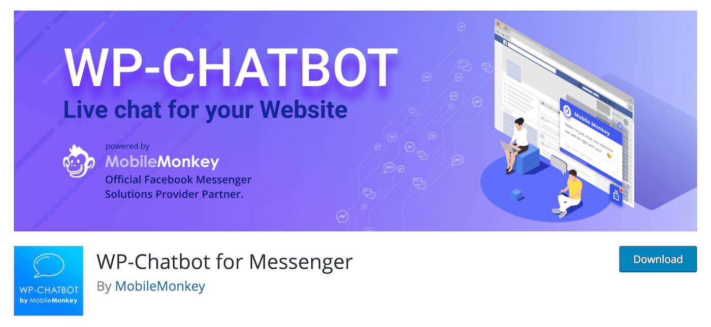 WP Chatbot for Messenger by MobileMonkey