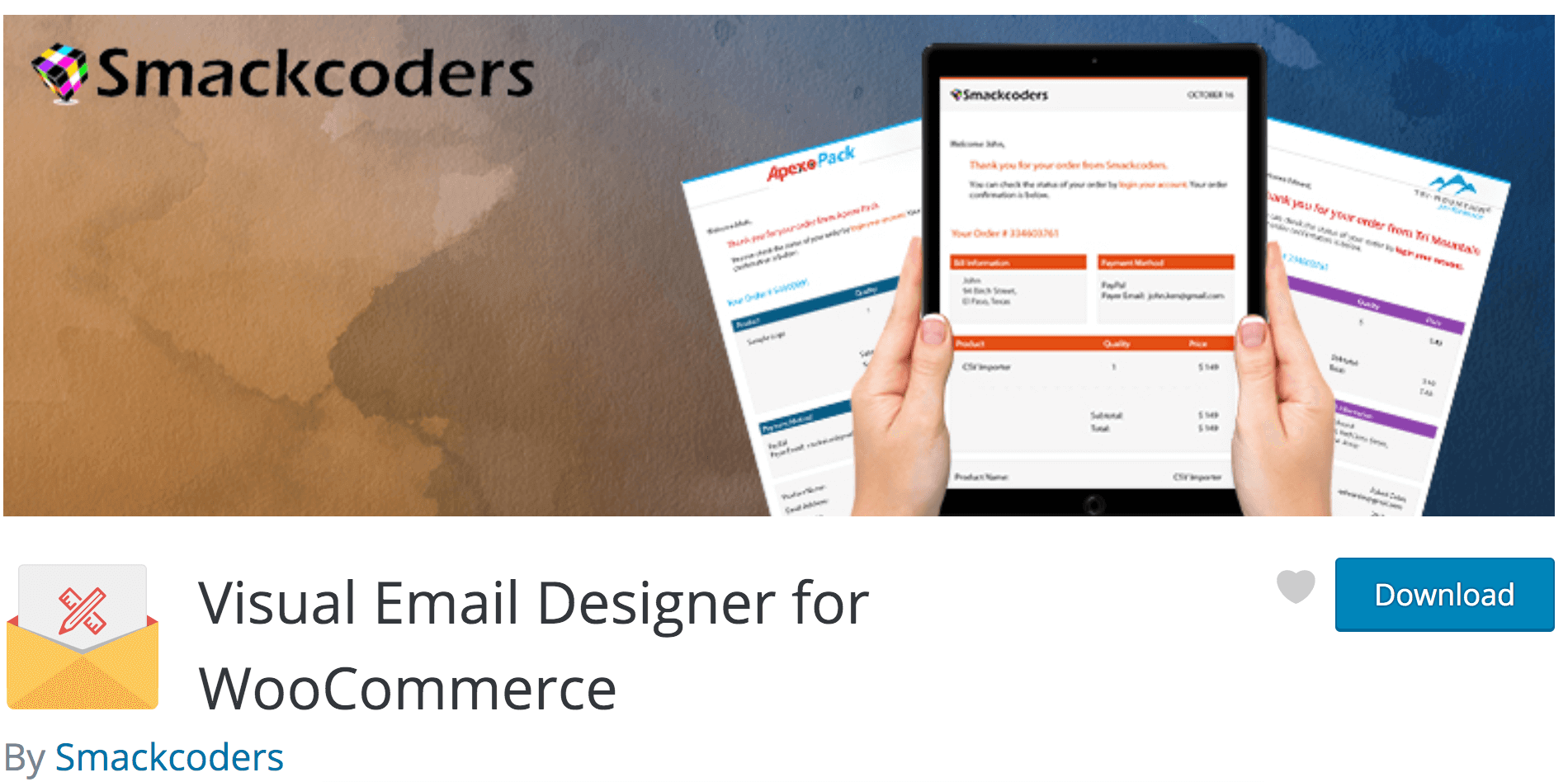 Smackcoders Visual Email Designer for WooCommerce