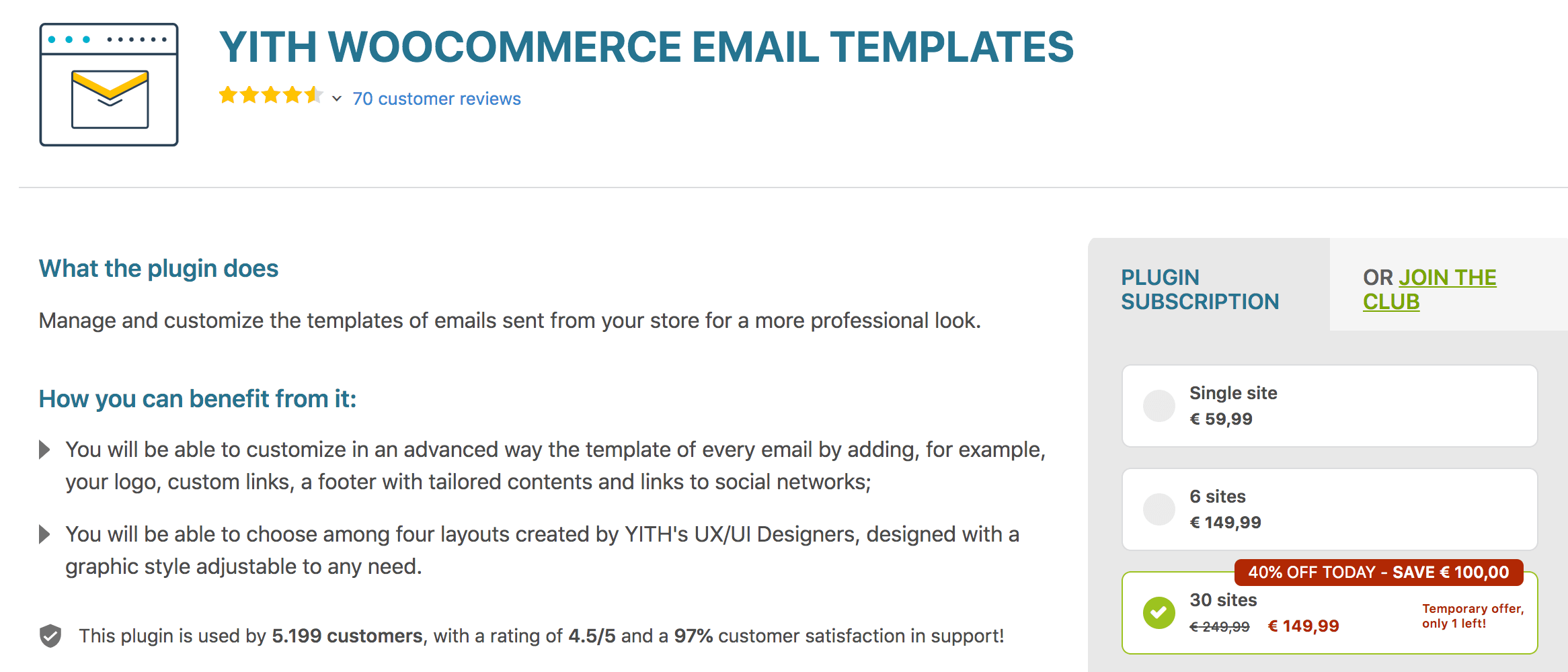 YITH WooCommerce Email Customizer