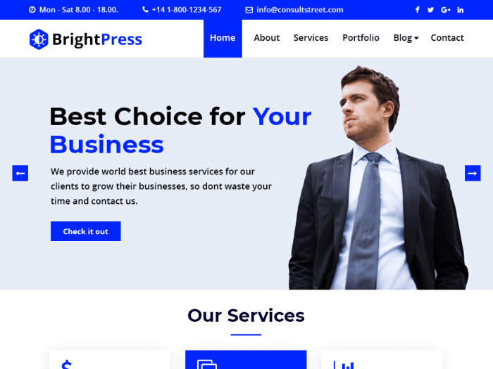 BrightPress wordpress community theme