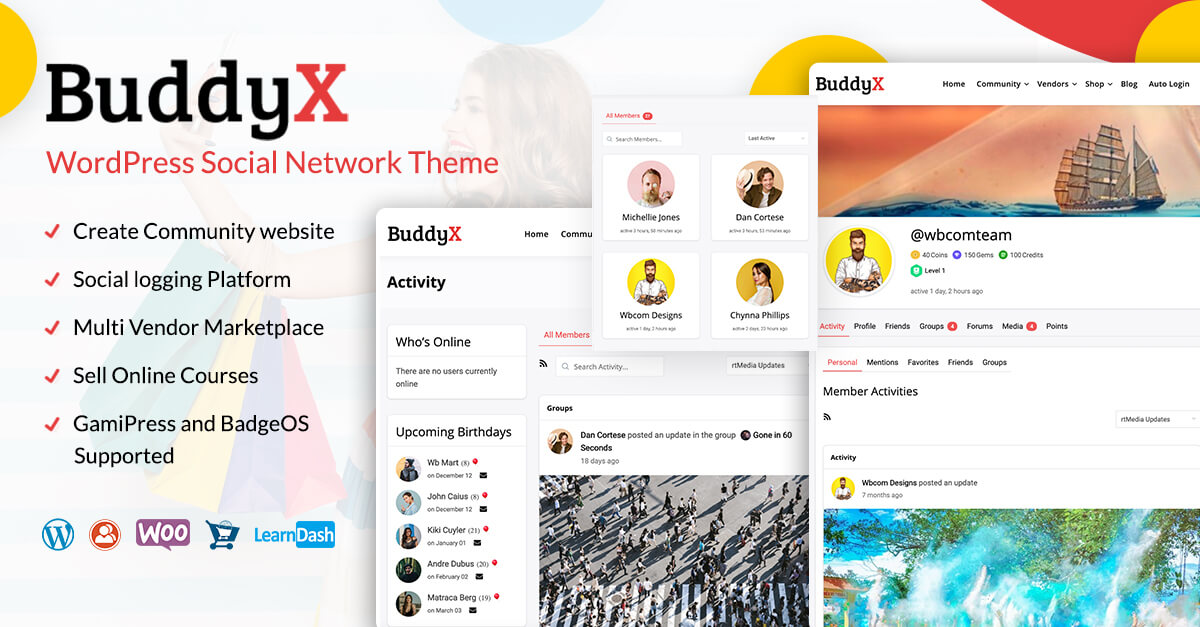 BuddyX wordpress community theme