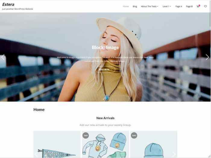 Estera - best free wordpress community theme