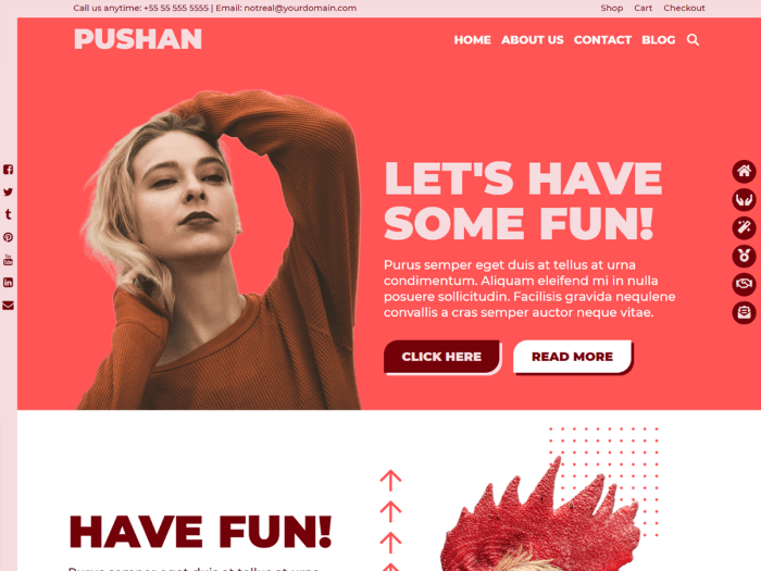 Pushan wordpress community free theme
