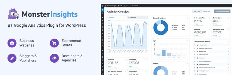 MonsterInsights plugin to optimize WooCommerce analytics