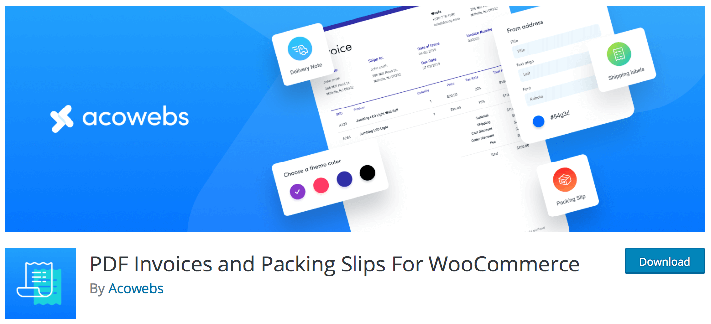 PDF Invoice and Packing Slip for WooCommerce