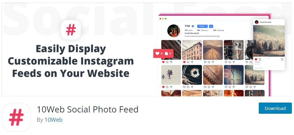 10web Social Photo Feed