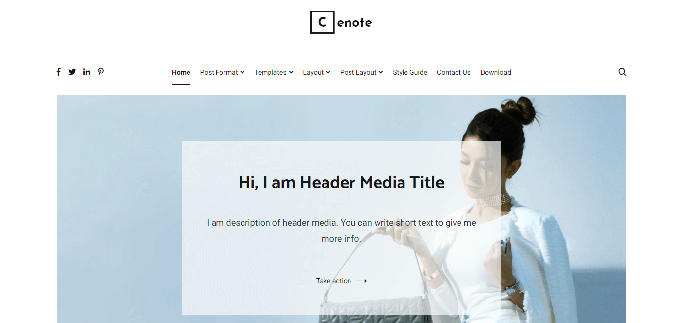 Cenote is one of the Best Free WordPress Themes for Small Business