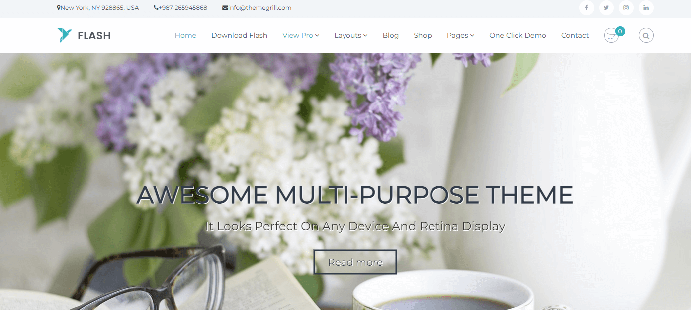 Flash is one of the Best Free WordPress Themes for Small Business
