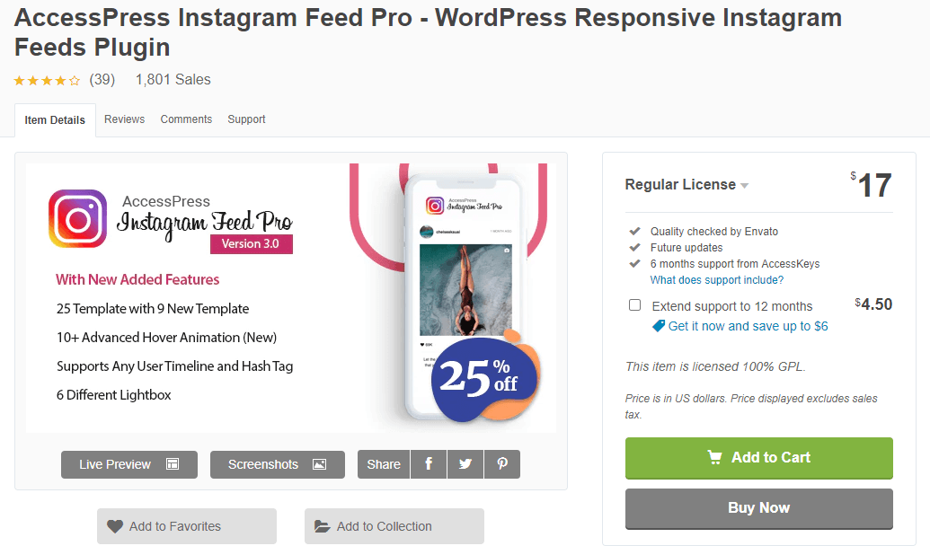 AccessPress Instagram Feed Plugin