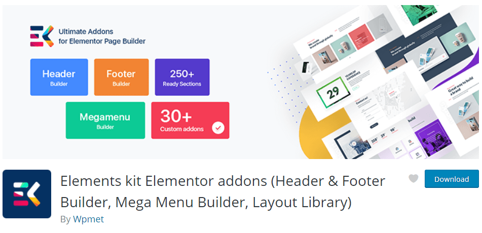 Elements kit Elementor addons